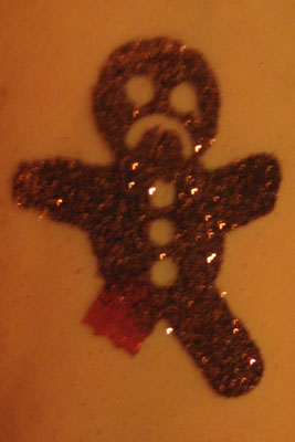 Glitter and Temporary Tattoos - Let\'s Make a Face